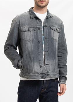 Джинсовая куртка Emporio Armani с потертостями, фото