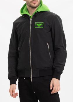 Черная куртка Emporio Armani с капюшоном, фото