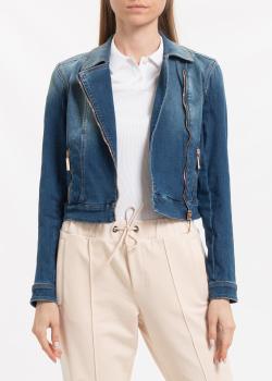 Синяя джинсовая куртка Elisabetta Franchi, фото