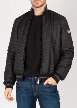 Черная куртка Cesare Paciotti с геометрической стежкой, фото