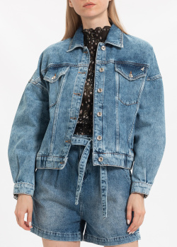 Джинсовая куртка Patrizia Pepe синего цвета, фото