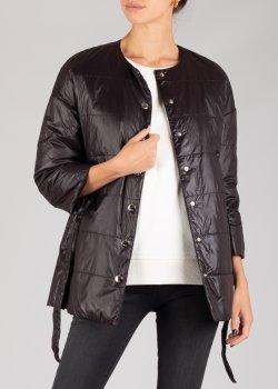 Черная куртка Patrizia Pepe с укороченным рукавом, фото