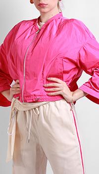 Розовая куртка Patrizia Pepe с бантом на спине, фото