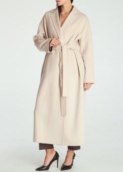 Шерстяное пальто Max Mara 'S бежевого цвета, фото