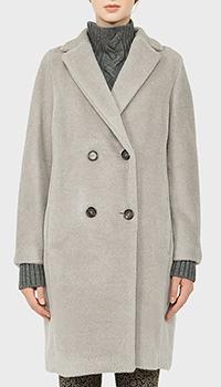 Однобортное пальто MaxMara из альпаки, фото