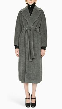Серое пальто Max Mara из альпаки, фото