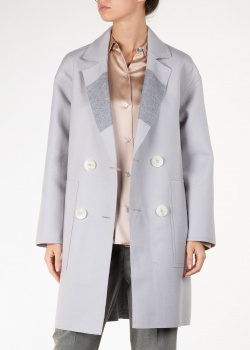 Двустороннее пальто Lorena Antoniazzi серого цвета, фото