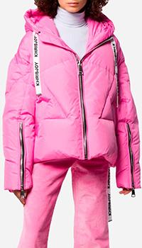 Женский пуховик Khrisjoy розового цвета, фото