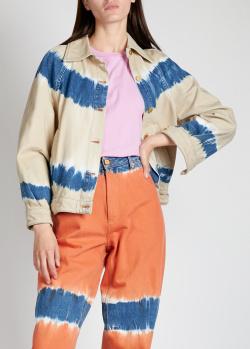 Джинсовая куртка Alberta Ferretti бежевого цвета, фото