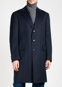 Кашемировое пальто Cesare Attolini в синем цвете, фото