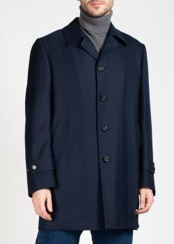 Синее пальто Cesare Attolini на пуговицах, фото