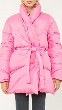 Пуховик на запах Khrisjoy розового цвета, фото