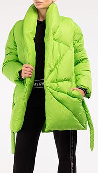 Пуховик оверсайз Khrisjoy зеленого цвета, фото