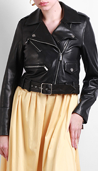 Черная куртка Max&Moi из кожи, фото
