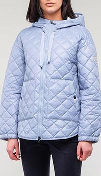 Стеганная голубая куртка Bogner Bella с капюшоном, фото