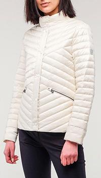 Белая куртка Bogner Bessy с заклепками, фото