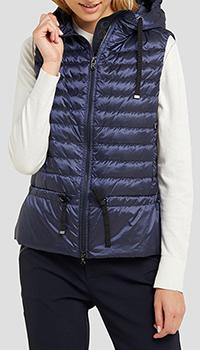 Темно-синий жилет Bogner Lotty с капюшоном, фото