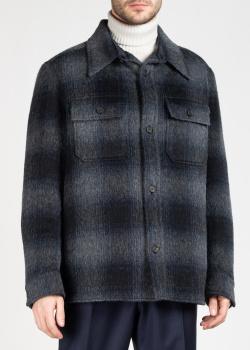Серая куртка Brioni в крупную клетку, фото