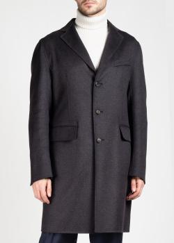 Мужское пальто Brioni темно-серого цвета, фото