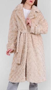 Длинное пальто Cavalli Class бежевого цвета, фото