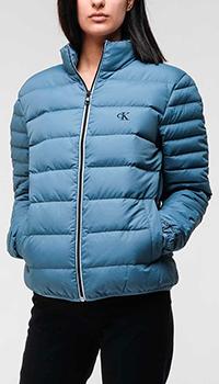 Стеганая куртка Calvin Klein с высоким воротником, фото
