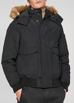 Пуховик Calvin Klein черного цвета с капюшоном, фото