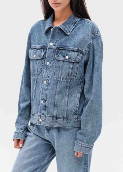 Джинсовая куртка Calvin Klein свободного кроя, фото