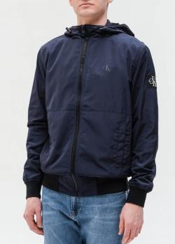 Синяя куртка Calvin Klein с капюшоном, фото