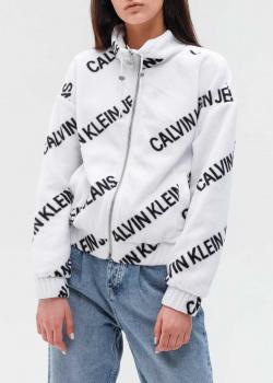 Белая куртка Calvin Klein с высоким воротником, фото