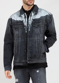 Джинсовая куртка Marcelo Burlon с принтом крыльев, фото