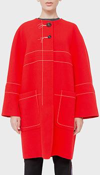 Красное пальто Marni с декором-строчкой, фото