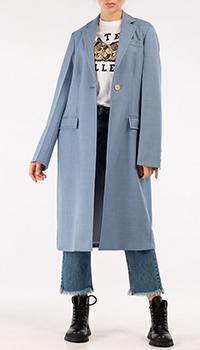 Длинное пальто Marni голубого цвета, фото