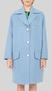 Пальто Marni голубое на пуговицах, фото