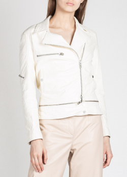 Кожаная куртка Drome белого цвета, фото