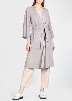 Замшевое пальто Drome серого цвета, фото