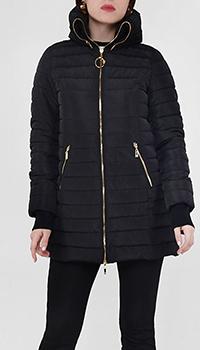 Дутая куртка Cavalli Class черного цвета, фото