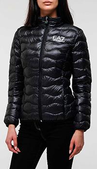 Черная куртка Ea7 Emporio Armani утепленная, фото