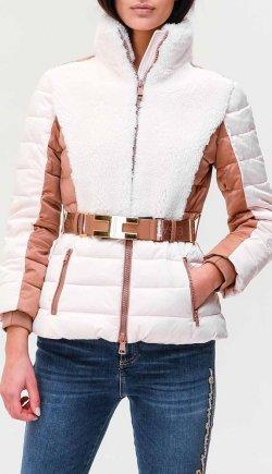 Стеганая куртка Elisabetta Franchi белого цвета, фото