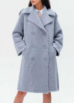 Пальто-оверсайз Elisabetta Franchi голубого цвета, фото