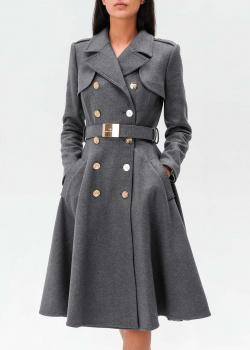 Шерстяное пальто Elisabetta Franchi расклешенного кроя, фото