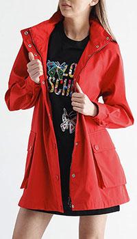 Красная ветровка Emporio Armani с капюшоном, фото