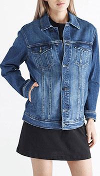 Джинсовая куртка Emporio Armani синего цвета, фото