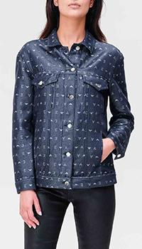 Джинсовая куртка Emporio Armani с монограммой бренда, фото