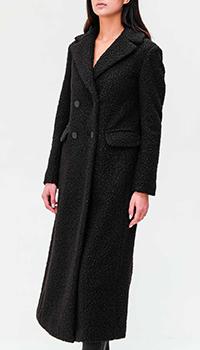Двубортное пальто Emporio Armani с широкими лацканами, фото