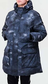 Двухсторонний пуховик Emporio Armani синего цвета, фото