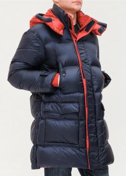 Пуховик со стежкой Emporio Armani с красными вставками, фото