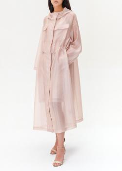 Розовый плащ Emporio Armani с капюшоном, фото