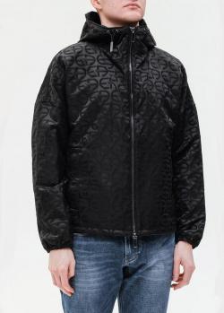 Черная куртка Emporio Armani с принтом, фото