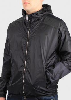 Черная ветровка Emporio Armani с капюшоном, фото