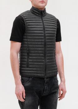 Черный жилет Emporio Armani со стежкой, фото